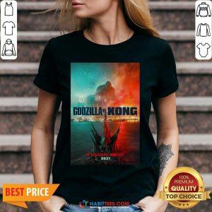 Hot Godzilla vs Kong Poster 1145 V-neck