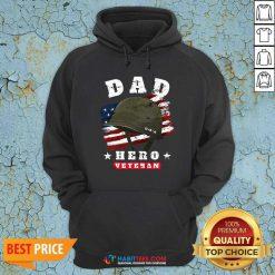 Nice Dad Us Army Veteran Hero Fathers Day American Flag Hoodie - Design by Habittees.com