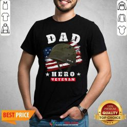 Nice Dad Us Army Veteran Hero Fathers Day American Flag Shirt - Design by Habittees.com