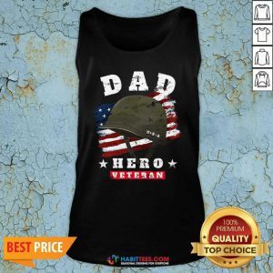 Nice Dad Us Army Veteran Hero Fathers Day American Flag Tank Top - Design by Habittees.com
