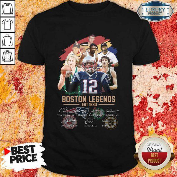 Official Boston Legends Est 1630 Signatures Shirt