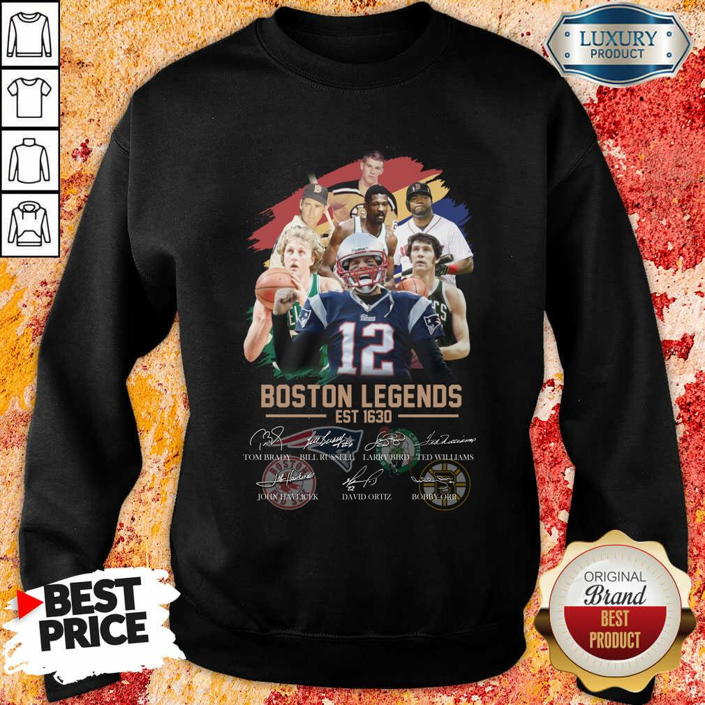 Official Boston Legends Est 1630 Signatures Sweatshirt