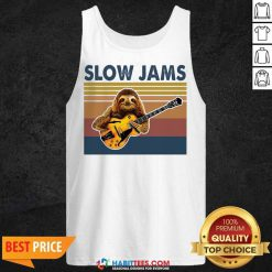 Original Sloth Playing Guitar Slow Jams Vintage Tank Top