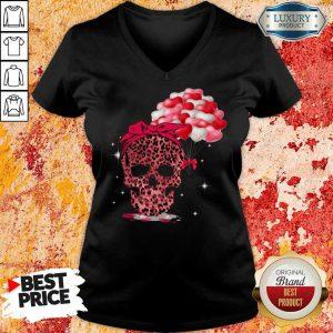 Perfect Skull Valentine Balloon V-neck
