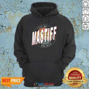 Premium Love My Mastiff Dog Mom Vintage Hoodie - Design by Habittees.com
