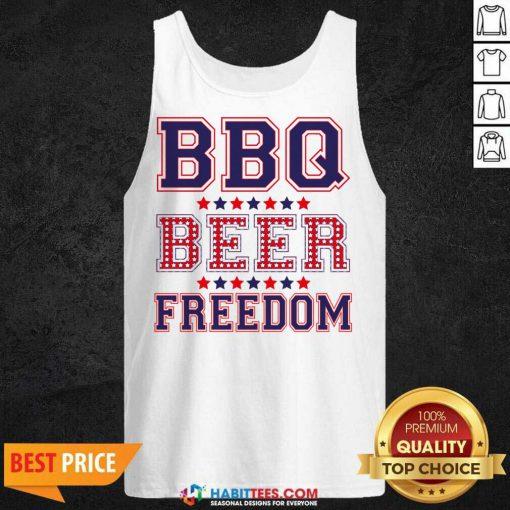 Pretty BBQ Beer Freedom 246 Tank Top