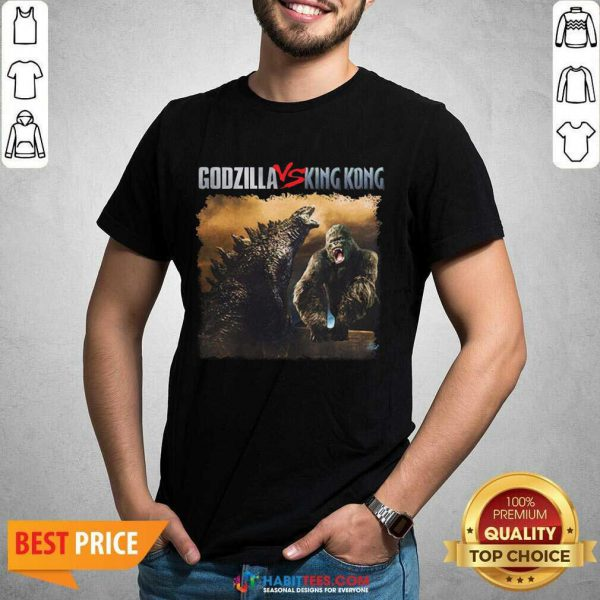 Top Classic Godzilla Vs King Kong New Tee 2 Shirt