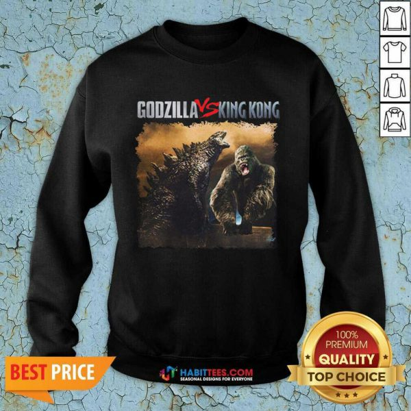 Top Classic Godzilla Vs King Kong New Tee 2 Sweatshirt