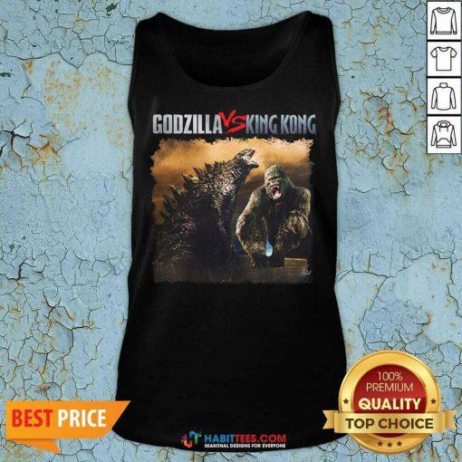 Top Classic Godzilla Vs King Kong New Tee 2 Tank Top