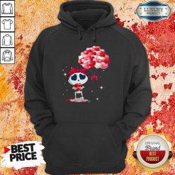 Top Hearts Skeleton Valentine Hoodie