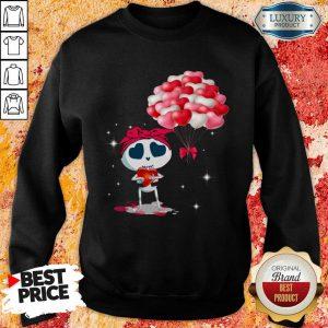 Top Hearts Skeleton Valentine Sweatshirt