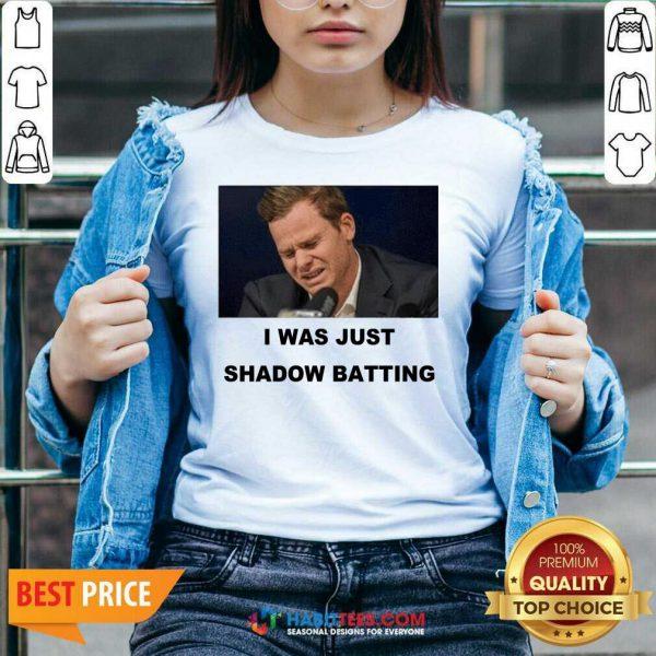 Top Steve Smith I Was Just Shadow Batting 46 V-neck