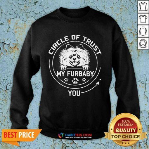 Awesome My Furbaby Circle Dog Lovers 1 Sweatshirt