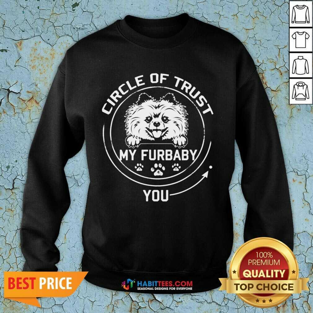 Awesome My Furbaby Circle Dog Lovers 1 Sweatshirt