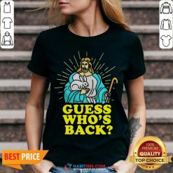 Funny Merry Easter Jesus Guess Whos Back V-neck