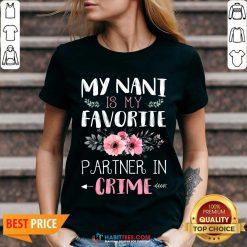 Funny My Nani Is Favorite Partner In 2 V-neck