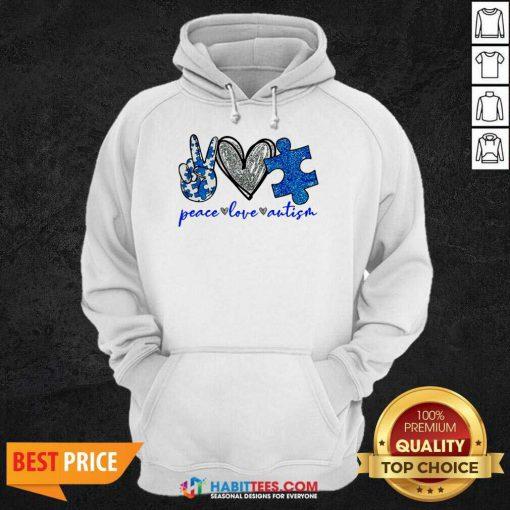Good Diamond Peace Love Autism 202 Hoodie