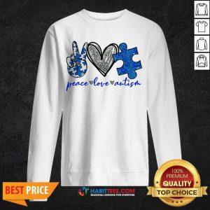 Good Diamond Peace Love Autism 202 Sweatshirt