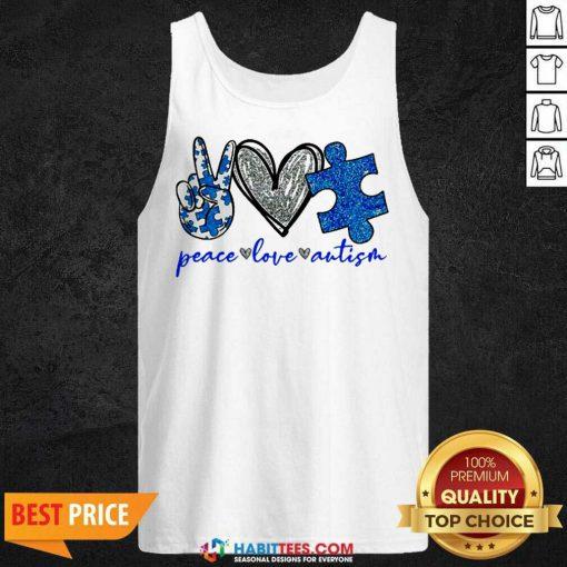 Good Diamond Peace Love Autism 202 Tank Top