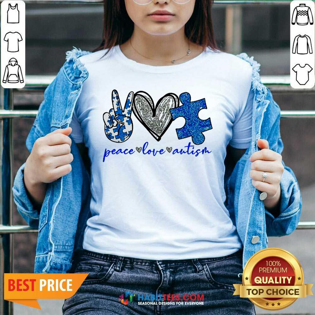 Good Diamond Peace Love Autism 202 V-neck
