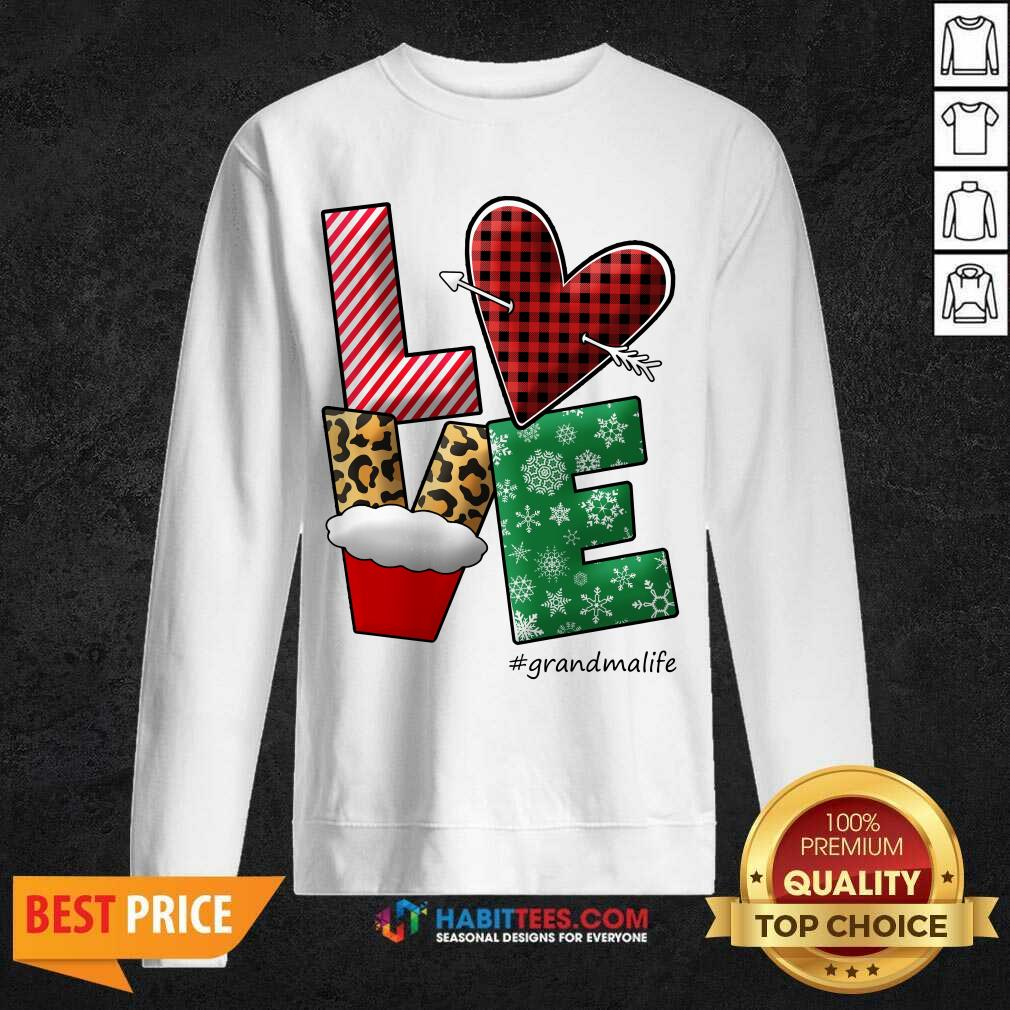 Good Merry Christmas Love Grandma 3 Sweatshirt