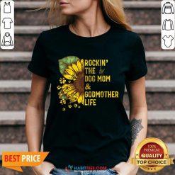 Happy Rockin The Dog Mom And Godmother V-neck