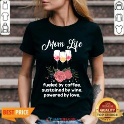 Hot Mom Life By Coffee Sustained 55 V-neck