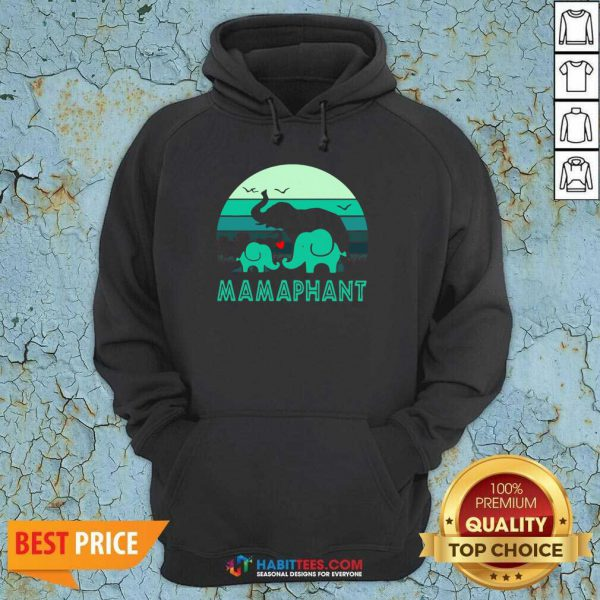 Nice Elephant Mamaphant Mothers Day Hoodie