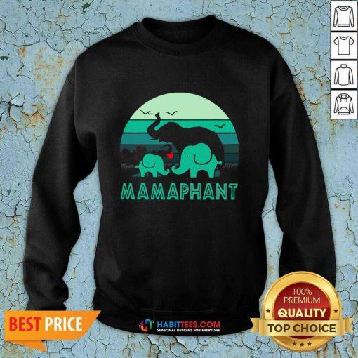 Nice Elephant Mamaphant Mothers Day Sweatshirt