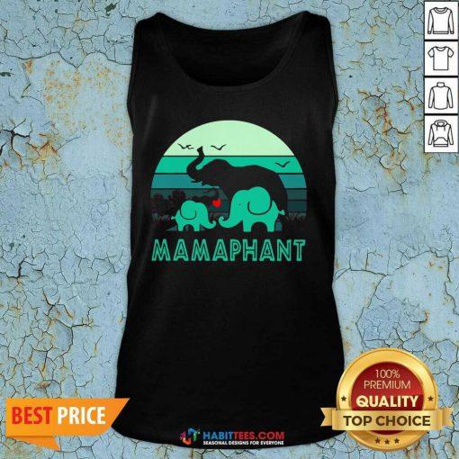 Nice Elephant Mamaphant Mothers Day Tank Top