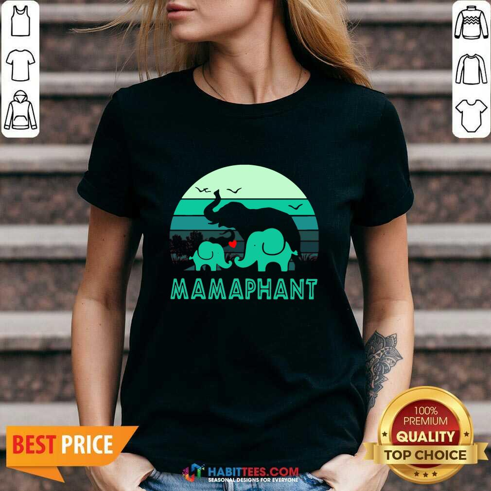Nice Elephant Mamaphant Mothers Day V-neck