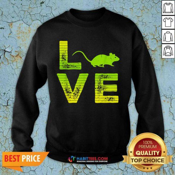 Nice I Love Mouse Boys Girls Great 6 Sweatshirt
