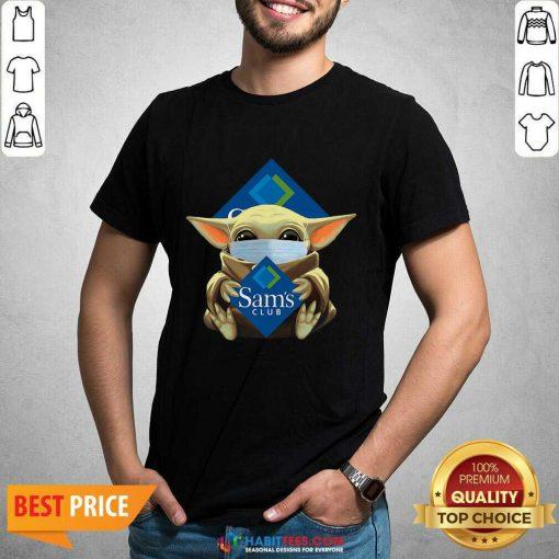 Nice Star Baby Yoda Mask Hug Sams Club Covid-19 Shirt