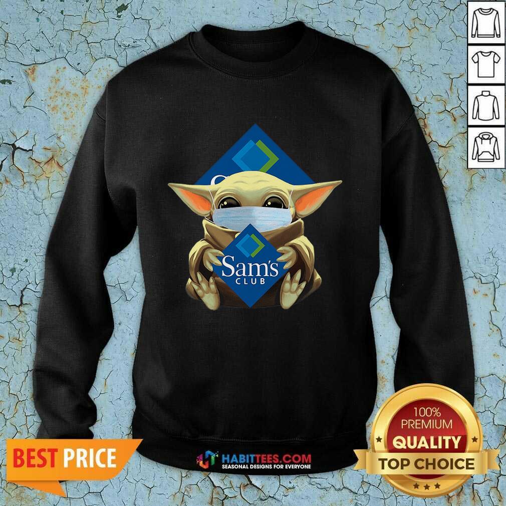 Nice Star Baby Yoda Mask Hug Sams Club Covid-19 Sweatshirt