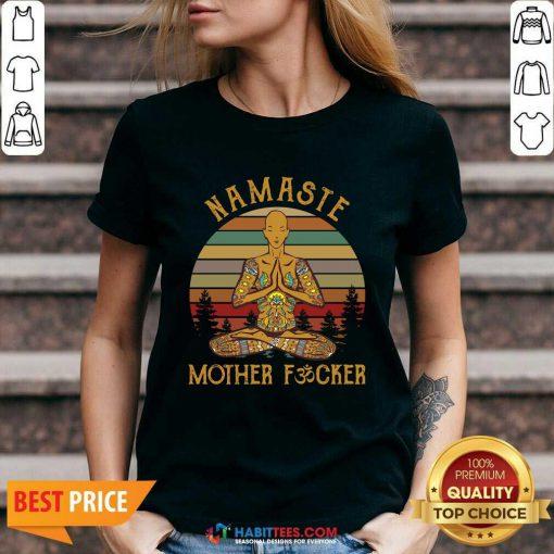 Nice Yoga Namaste Mother Fucker V-neck