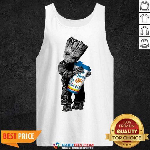 Official Baby Groot Hugs Dutch Bros 44 Tank Top