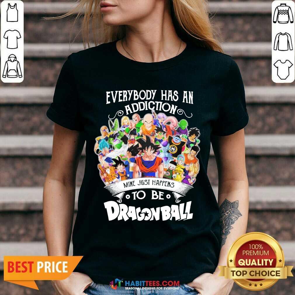 Official Everybody Has An Addiction Dragon Ball 3 V-neck