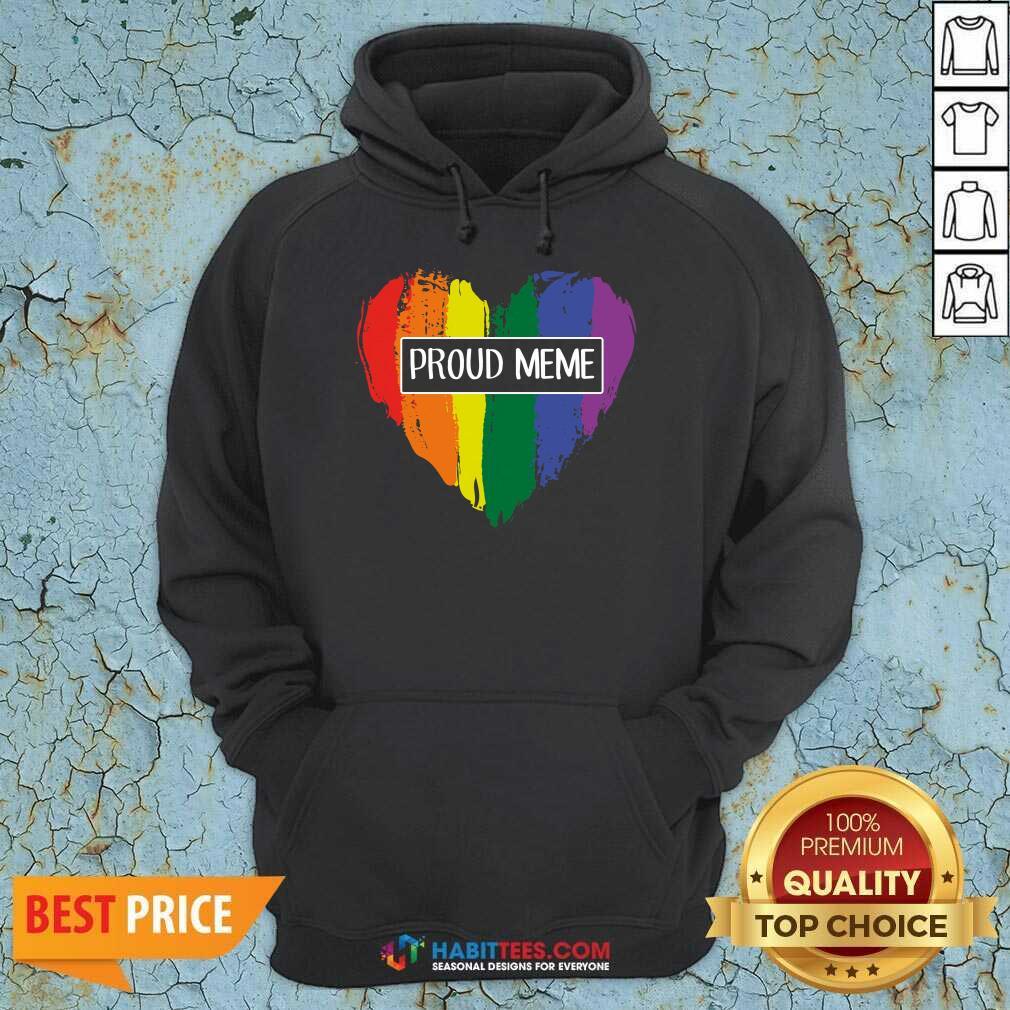Premium Proud MeMe Rainbow Heart 09 Hoodie