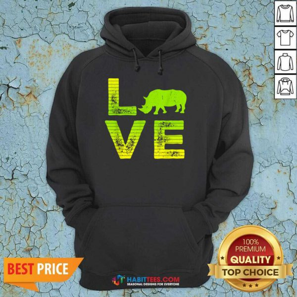Pretty I Love Rhinos Wild Boys Girls 8 Hoodie