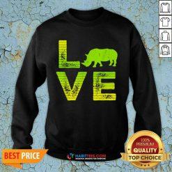 Pretty I Love Rhinos Wild Boys Girls 8 Sweatshirt