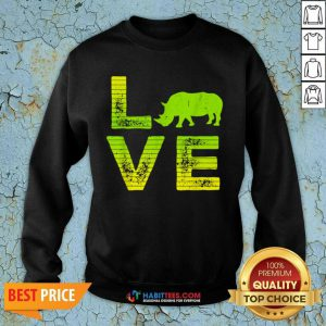 Pretty I Love Rhinos Wild Boys Girls 8 Sweatshirt