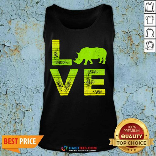 Pretty I Love Rhinos Wild Boys Girls 8 Tank Top
