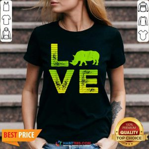 Pretty I Love Rhinos Wild Boys Girls 8 V-neck