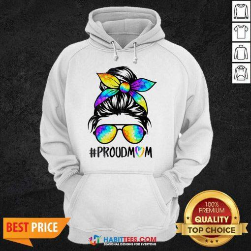Top Hippie Dye Mom Proudmom Great 5 Hoodie