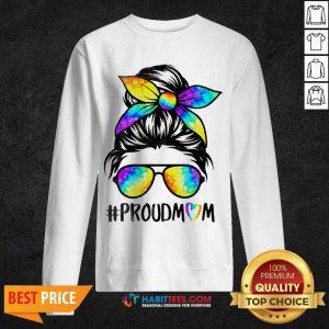 Top Hippie Dye Mom Proudmom Great 5 Sweatshirt