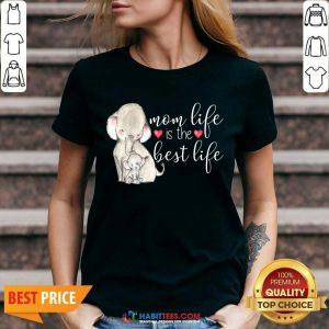 Top Mom Great Life Is The Best Life 10 V-neck