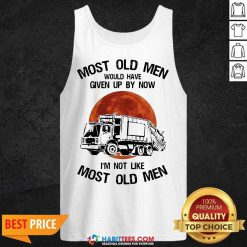 Top Moon Blood Most Old Men Waste Collector 5 Tank Top