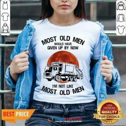 Top Moon Blood Most Old Men Waste Collector 5 V-neck