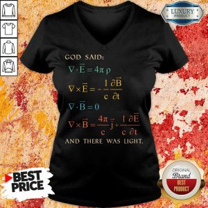 Awesome God Said And There Was Light V-neck