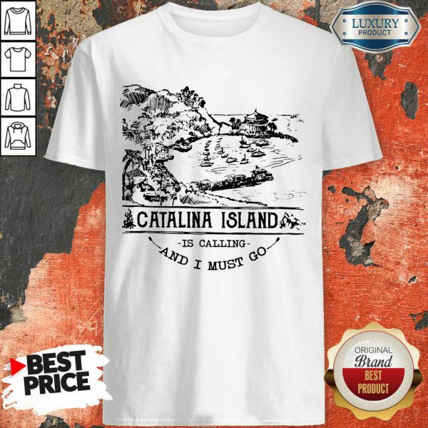 Pretty Camping2801 Catalina Island Is Calling And I Must Go Shirt